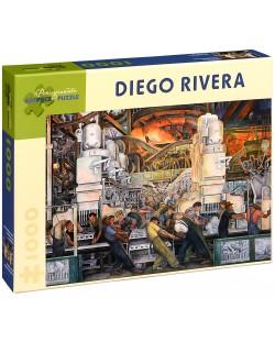 Puzzle Pomegranate de 1000 piese - Industria din Detroit, Diego Rivera