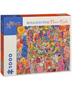Puzzle Pomegranate de 1000 piese - Cerc de flori, Rosalind Wise