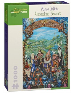 Puzzle Pomegranate de 1000 piese - Paza in tara gnomilor, Michael Dubois