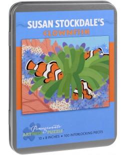 Puzzle Pomegranate de 100 piese - Peste clovn, Susan Stockdale