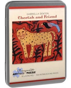 Puzzle Pomegranate de 100 piese - Leopard si prieten, Gabriella Denton