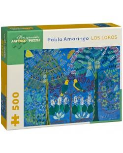 Puzzle Pomegranate de 500 piese - Papagali, Pablo Amaringo