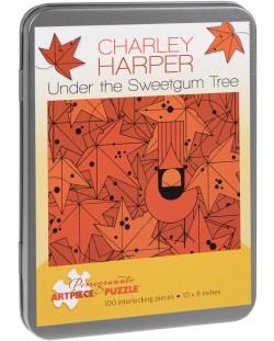 Puzzle Pomegranate de 100 piese - Sub arbore de gumă, Charley Harper