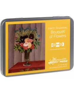 Puzzle Pomegranate de 100 piese - Buchet de flori, Henri Rousseau