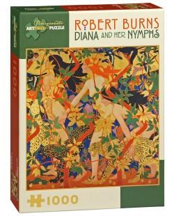 Puzzle Pomegranate de 1000 piese - Diana si nimfele ei, Robert Burns