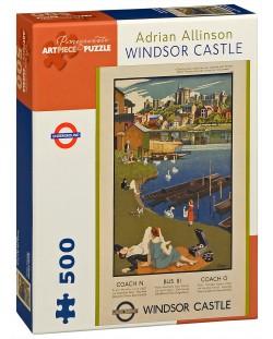 Puzzle Pomegranate de 500 piese - Castelul Windsor, Adrian Allinson