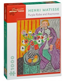 Puzzle Pomegranate de 1000 piese - Halat mov si anemone, Henri Matisse