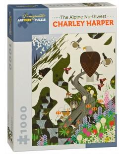 Puzzle Pomegranate de 1000 piese - Nord-vestul alpin, Charley Harper