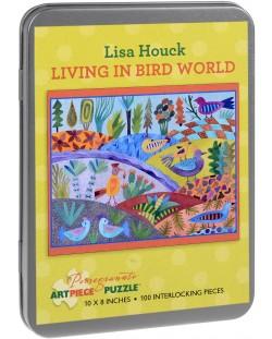 Puzzle Pomegranate de 100 piese - Lumepasarilor, Lisa Hawke