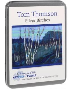 Puzzle Pomegranate de 100 piese - Mesteacan argintiu, Tom Thomson