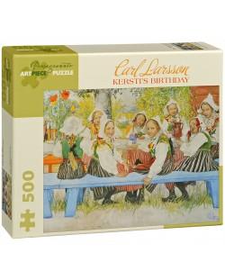 Puzzle Pomegranate de 500 piese - Ziua de nastere a lui Kersti, Carl Larsson