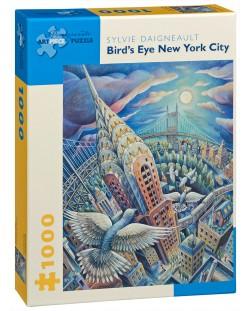 Puzzle Pomegranate de 1000 piese - New York prin ochii pasarilor, Sylvie Daigneault