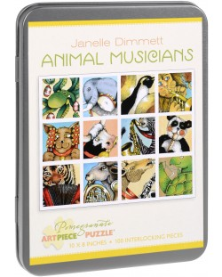 Puzzle Pomegranate de 100 piese - Animale muzicanti, Janelle Dimmett