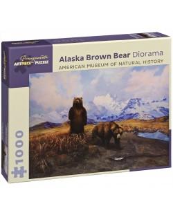 Puzzle Pomegranate de 1000 piese - Ursul maro in Alaska, Siri Shilios