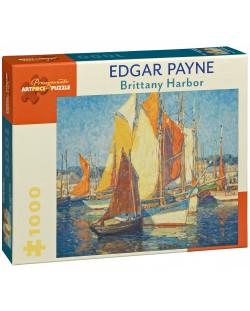 Puzzle Pomegranate de 1000 piese - Portul Bretania, Edgar Payne