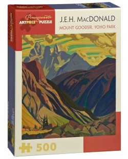 Puzzle Pomegranate de 500 piese - Muntele Goodsir - Parcul national Yoho, J.E.H. Macdonald