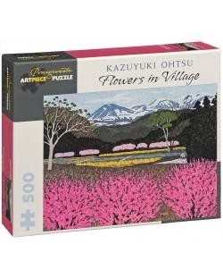 Puzzle Pomegranate de 500 piese - Flori in sat , Kazuyuki Ohtsu