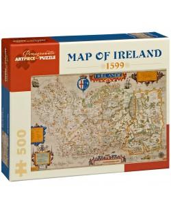 Puzzle Pomegranate de 500 piese - Harta Irlandei din anul 1599