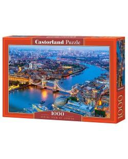 Puzzle Castorland de 1000 piese - Londra vazuta prin ochii paserei