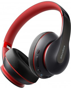 Casti wireless Anker - Soundcore Life Q10, negre/rosii