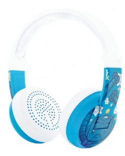 Casti wireless cu microfon BuddyPhones - WAVE ROBOT, albastre