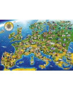 Puzzle Bluebird de 1000 piese -European Landmarks, Adrian Chesterman