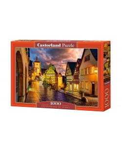 Puzzle Castorland de 1000 piese - Noaptea in Rothenburg