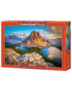 Puzzle Castorland de 1000 piese - Vedere in Assiniboine in Parcul natonal Banaf, Canada