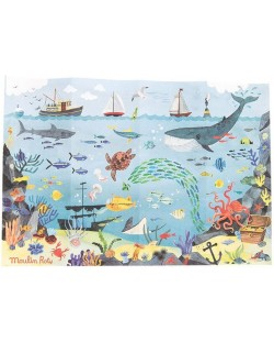 Puzzle pentru copii Moulin Roty - Ocean, 96 piese