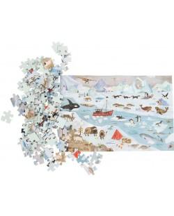 Puzzle pentru copii Moulin Roty - Arctica, 96 piese