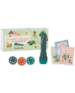 Jucarie pentru copii Moulin Roty - Lanterna de poveste cu carti