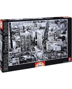 Puzzle Educa de 1500 piese - Rascruce la cladirea Flatiron Building, Manhattan