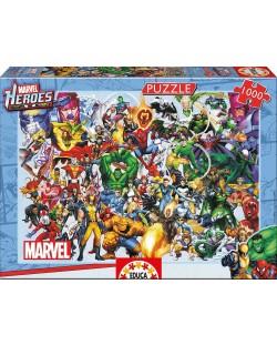 Puzzle Educa de 1000 piese - Eroii Marvel