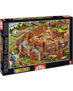 Puzzle Educa de 1000 piese - Asezare medievala