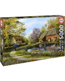 Puzzle Educa de 5000 piese - Cabane poloneze, Dominic Davison