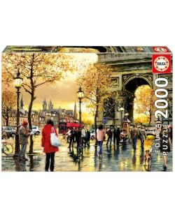 Puzzle Educa de 2000 piese - Arcul de Triumf, Paris
