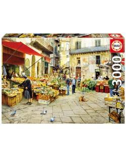 Puzzle Educa de 3000 piese - Piata Vucciria, Palermo