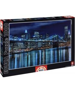 Puzzle Educa de 1000 piese - Manhattan noaptea