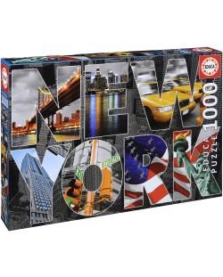 Puzzle Educa de 1000 piese - Colaj New York