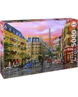 Puzzle Educa de 5000 piese - Strada in Paris, Dominic Davison
