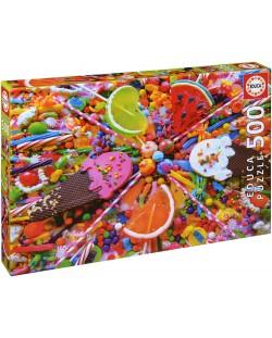 Puzzle Educa de 500 piese - Dulciuri