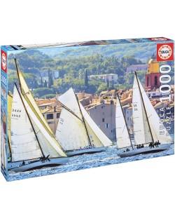 Puzzle Educa de 1000 piese - Navigand in Saint-Tropez