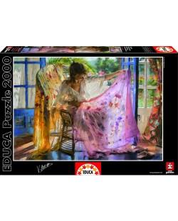 Puzzle Educa de 2000 piese - Esarfa roz, Vincente Romero