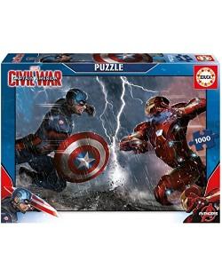 Puzzle Educa de 1000 piese - Capitan America impotriva lui Iron Man