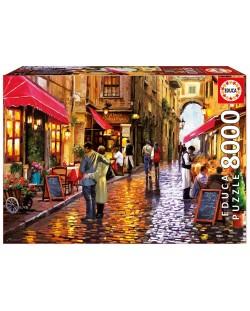 Puzzle Educa de 8000 piese - Strada cafenelelor, Richard Macneil