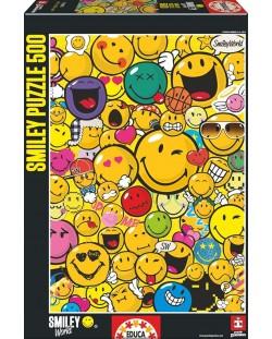 Puzzle Educa de 500 piese - Lumea zambetelor