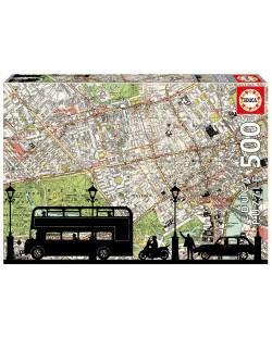 Puzzle Educa de 500 piese - Harta orasului