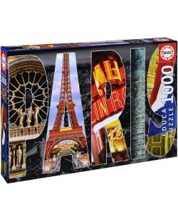 Puzzle Educa de 1000 piese - Colaj Paris