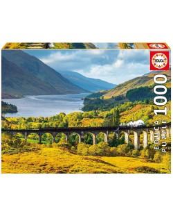 Puzzle Educa de 1000 piese - Viaductul Glenfinnan Scotia,