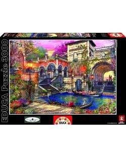 Puzzle Educa de 3000 piese - Romantica in Venetia, Dominic Davison